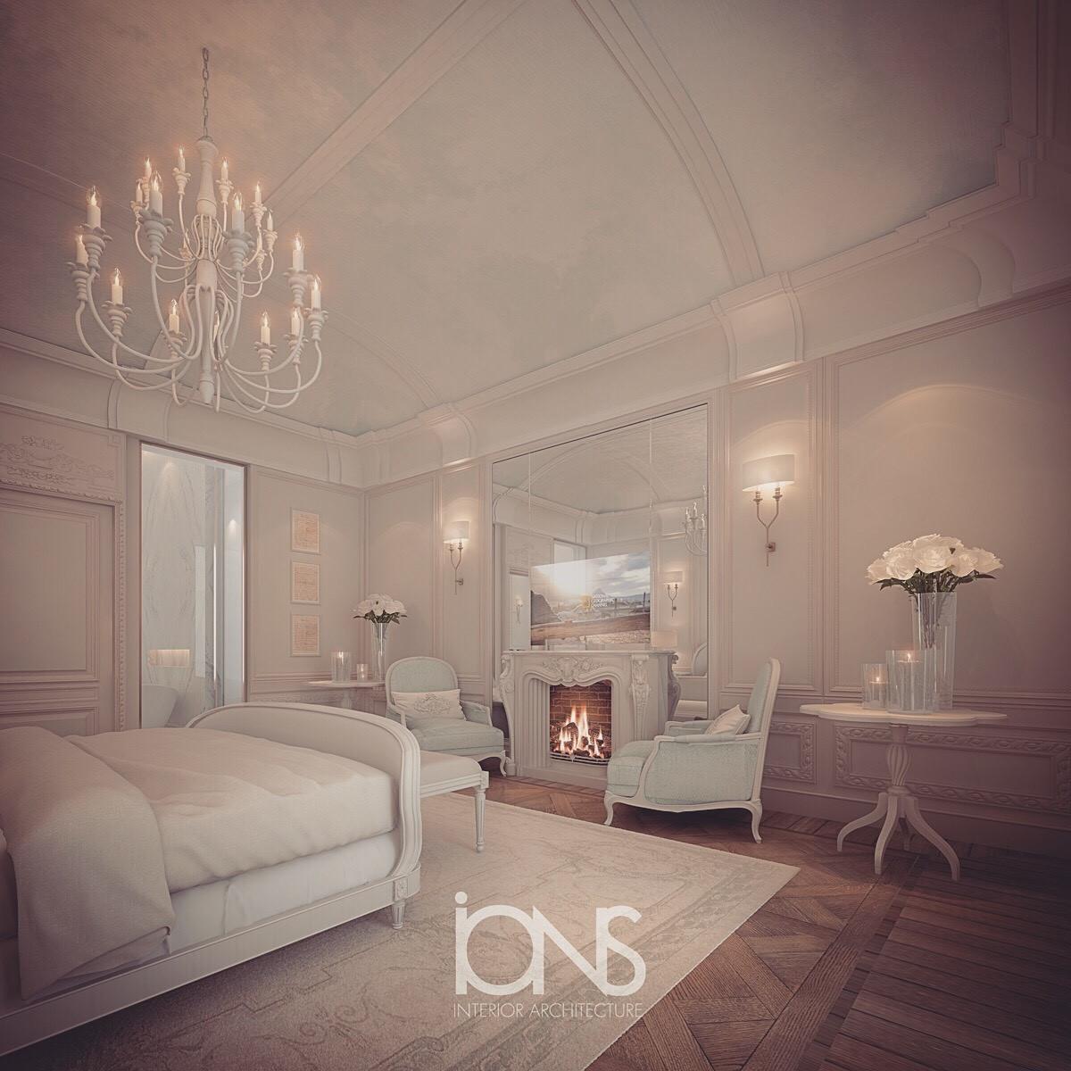 Elegant Bedroom for Villa Design
