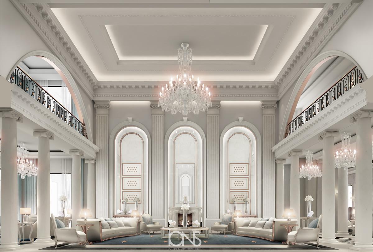 Dubai villa interior design family room