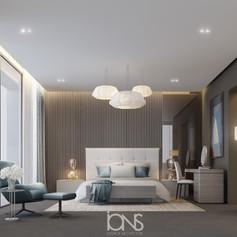 Bedroom design in modern interior