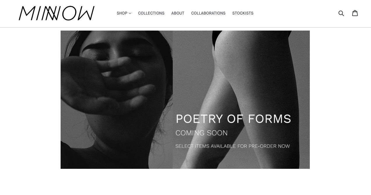 Minnow Bathers Website Design