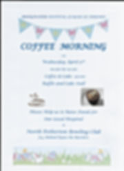 scanned coffee morning poster blue tint.