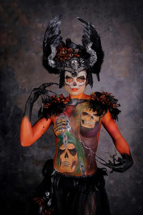 Halloween bodypaint
