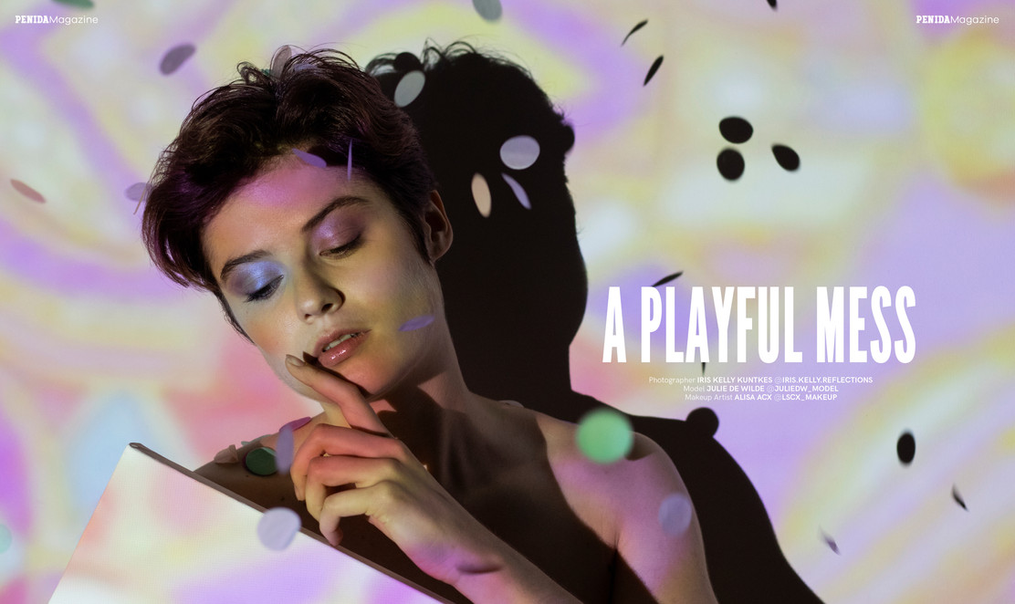 Publication A PLAYFUL MESS in PENIDA Magazine | October Issue Page 106 - 107  Photo by Iris Kelly Kuntkes MUA Alisa Acx | lscx_makeup