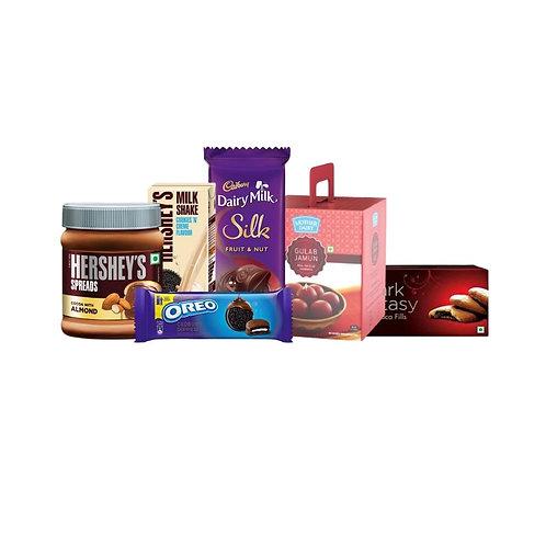 Sweet Delight- 1(Chocolate Spread+Chocolates+Milkshake+Gulab Jamun+Biscuits)