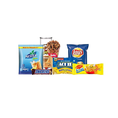 Netflix & Chill- 2(Iced Tea+Chocolate+Ice Cream Cone+Maggi+Chips)