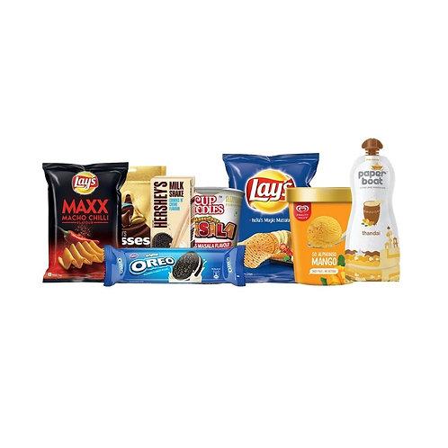 Mood Fixer- 2(Ice Cream+Thandai+Chips+Oreo+Milkshake+Chocolates+Cup Noodles)