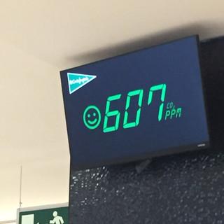 medidor co2 pantalla para interiores