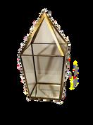Large Gold Pyramid Lantern