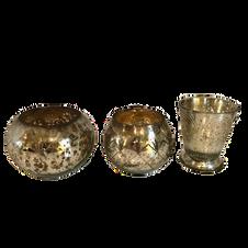 Vintage Mercury Glass Votives