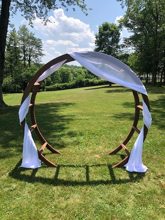 Natural Wood Round Archway