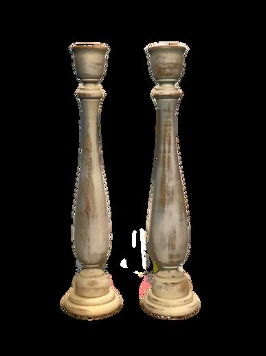 rustic-wooden-candlesticks