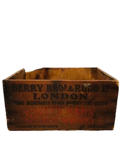 Vintage Wooden Box London_No Background