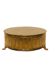 Gold Basket-Weave Cake Stand