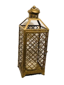 Tall Gold Moroccan Lantern