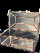 Rectangular Gold Trimmed Glass Box
