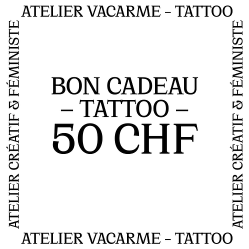 Bon cadeau Tattoo de 50 CHF