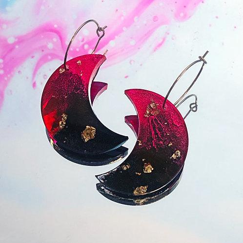 Boucles Nakimi Astrales (rose, noir et or)