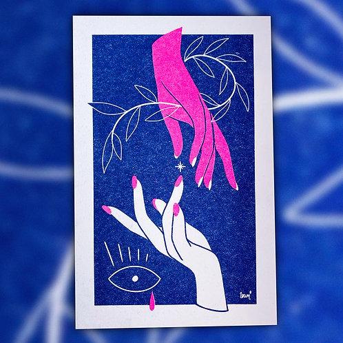 Print Riso A5 – Magic Hands by loum loum
