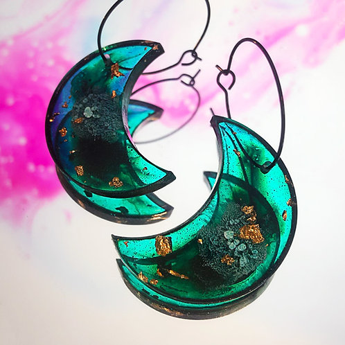 Boucles Nakimi Astrales (bleu et or)