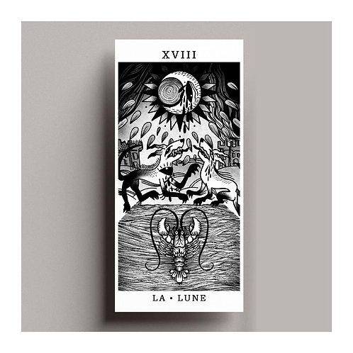 Carte de vœux Tarot – La lune
