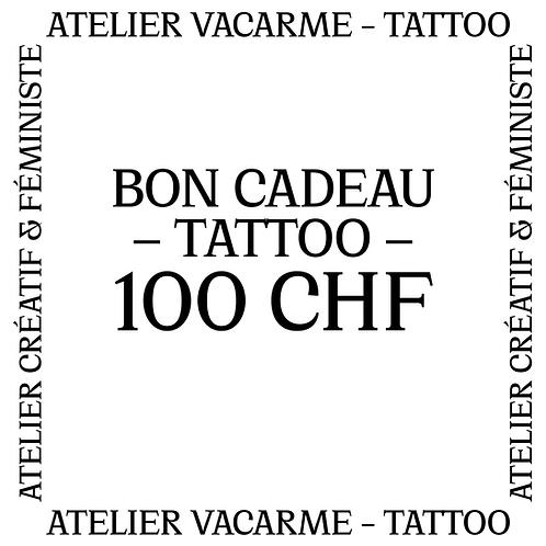Bon cadeau Tattoo de 100 CHF