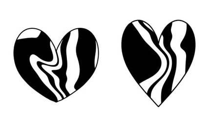 Coeurs marbrés