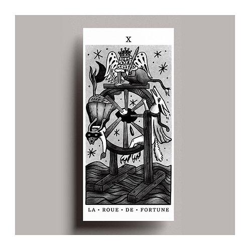 Carte de vœux Tarot – La roue de fortune