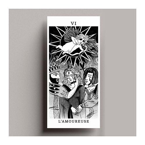 Carte de vœux Tarot – L'amoureuse