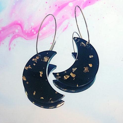 Boucles Nakimi Astrales (noir et or)