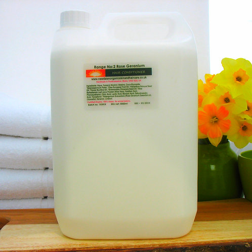 Organic Hair Conditioner - New Dawn Organic Skin and Hair Care - 5 litre