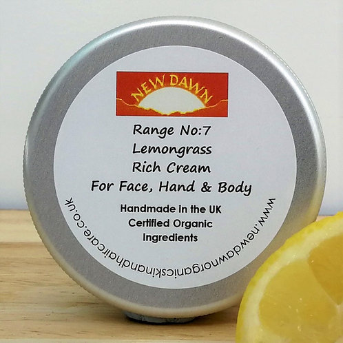 Organic Rich Cream for Face, Hands and Body - New Dawn Organic Skin and Hair Care - 75ml tin