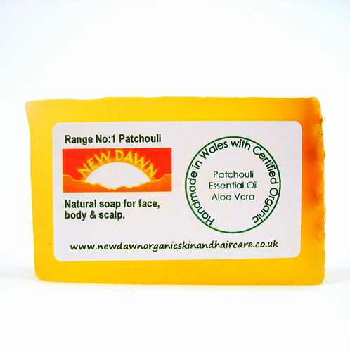 Organic Soap for Face, Hands, Body and Hair - New Dawn Organic Skin and Hair Care - 35g guest size bar