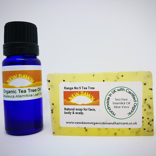 Acne Pimples Spots Sample Pack of natural organic Tea Tree products