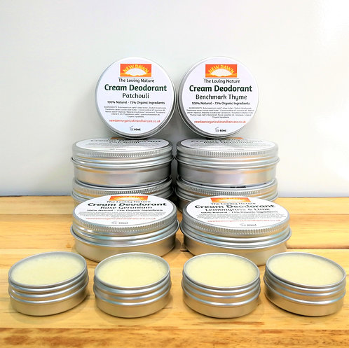 NATURAL DEODORANT - Lemongrass | Rose Geranium | Patchouli | Thyme | Unscented
