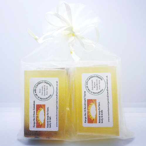 Travel Soap Gift Sets in Organza Bags