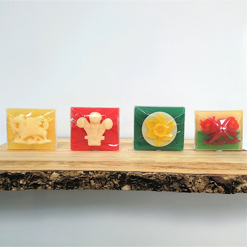 Welsh Gift Soaps - Wales - Flag - Dragon - Daffodil - Feathers