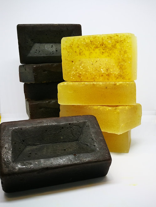 Natural exfoliation soap