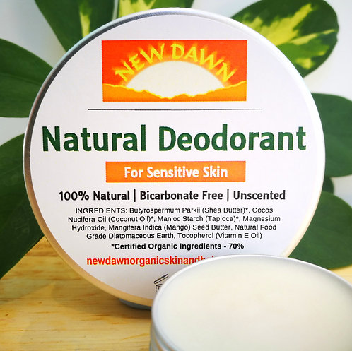 NATURAL DEODORANT FOR SENSITIVE SKIN - Unscented and Bicarbonate free