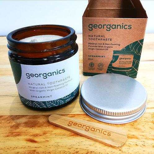 Georganics - Natural Organic Toothpaste - Spearmint or Orange