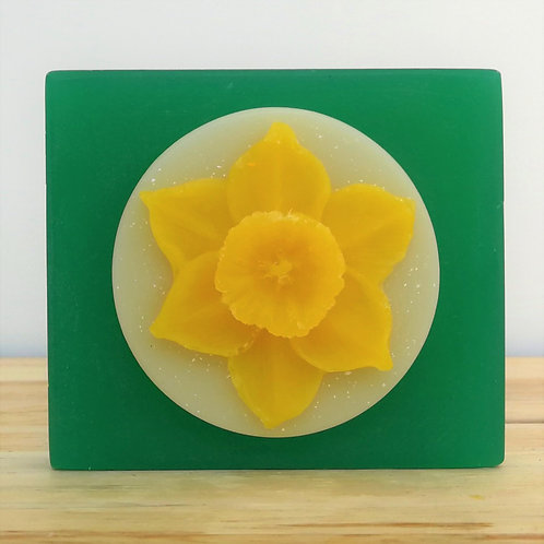 Handmade organic Welsh Daffodil Soap at wholesale prices