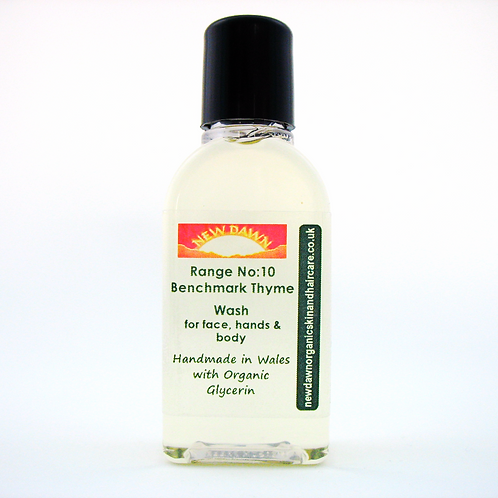 Organic Wash for Face, Hands and Body - New Dawn Organic Skin and Hair Care - 25ml guest size