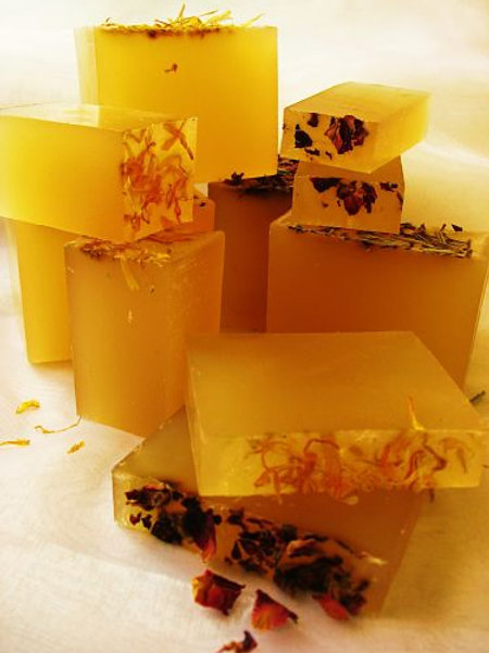 Organic Soap for Face, Hands, Body and Hair - New Dawn Organic Skin and Hair Care - Cut Loaf