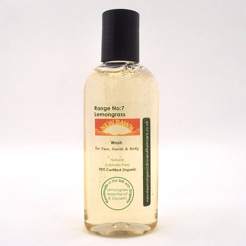 Organic Wash for Face, Hands and Body - New Dawn Organic Skin and Hair Care - 100ml travel size