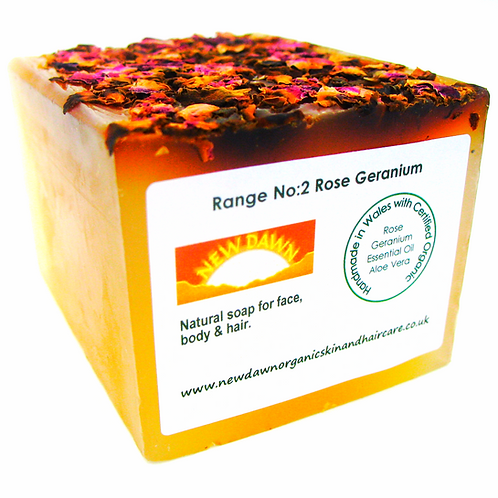 Organic Soap for Face, Hands, Body and Hair - New Dawn Organic Skin and Hair Care - small loaf
