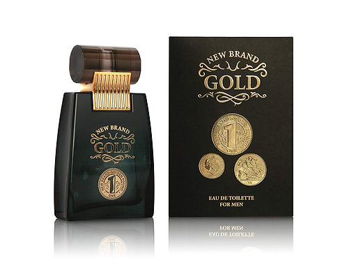 New Brand Gold For Men - Eau de Toilette for Men 100 ml