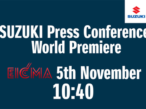 Suzuki press conference at EICMA 2019