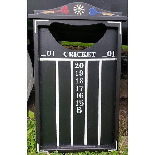 Chalkboard dart scoreboard