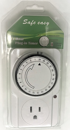 Timer - plug in manual 15 minute increment 24 hour