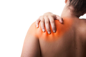 Young woman with sever back pain. She is