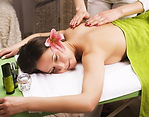 stock photo attractive lady getting spa